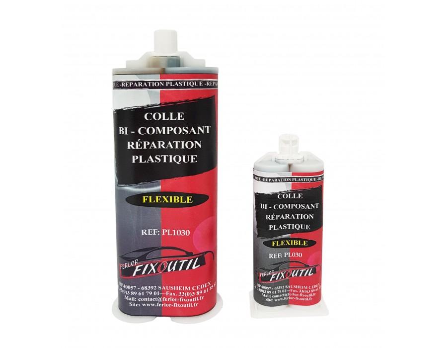 Colle bi-composant réparation plastique - flexible - 50ML