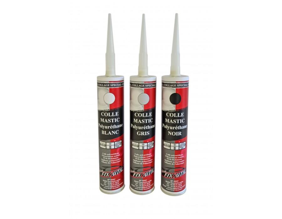 Colle-mastic structurale polyurethane - 1 cart.310ml - Couleur Blanc- noir ou gris