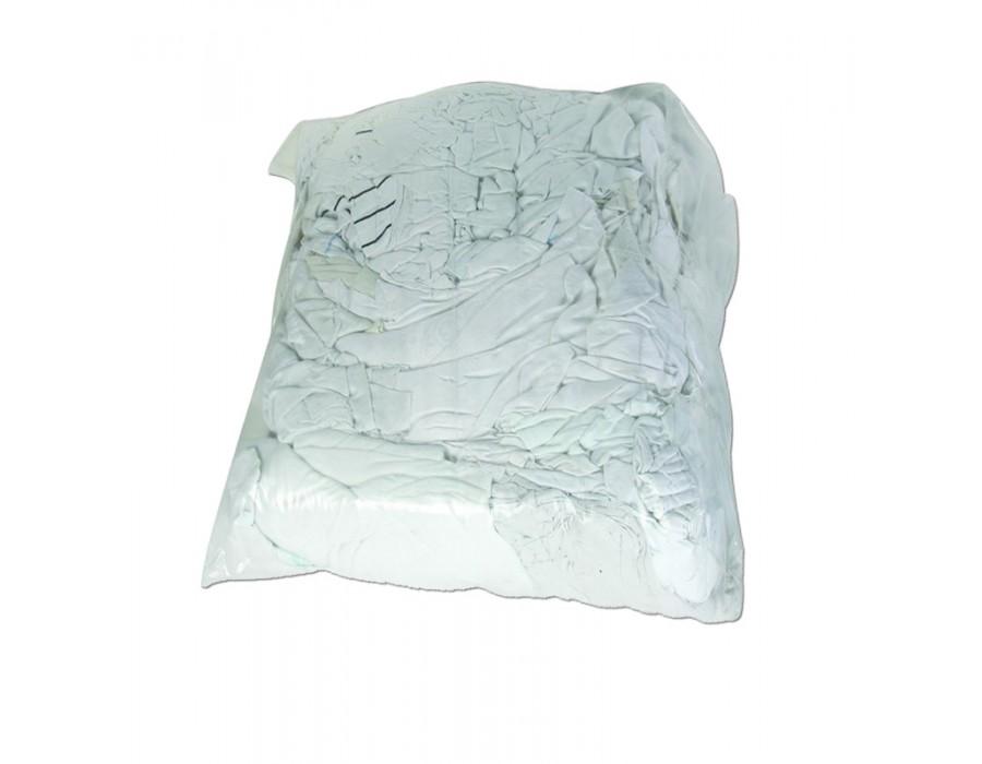 Chiffons d'essuyage recyclés Jersey blanc 10kg