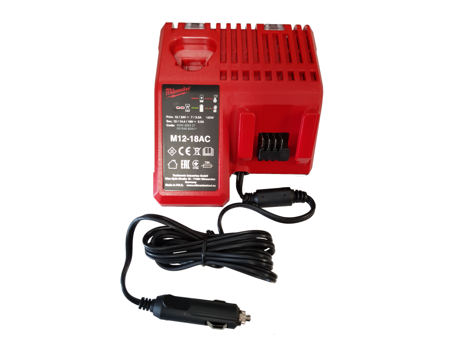Chargeur allume cigare pour pistolet MILWAUKEE 18V