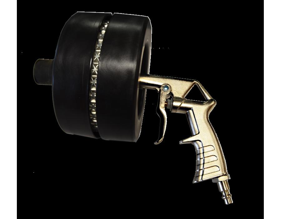 Pistolet de gravage pour vitre avec buse en acier, s'utilise avec une alimentation en air comprimé.