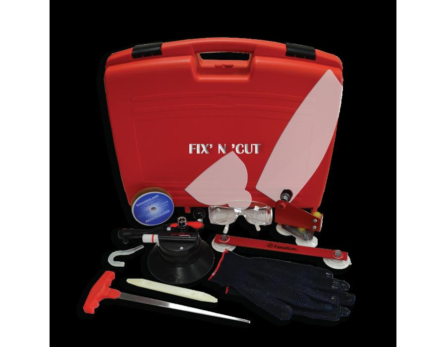 Kit de découpe à cliquet pour joint de pare-brise