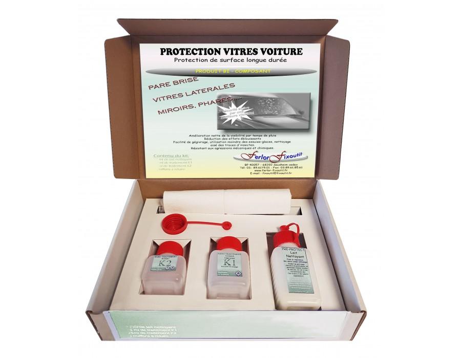 Protection hydrophobe pour vitre